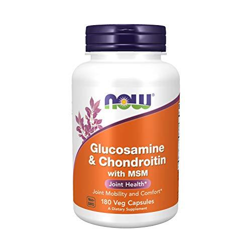Glucosamine e Chondroitin com MSM (180 cápsulas) Now Foods