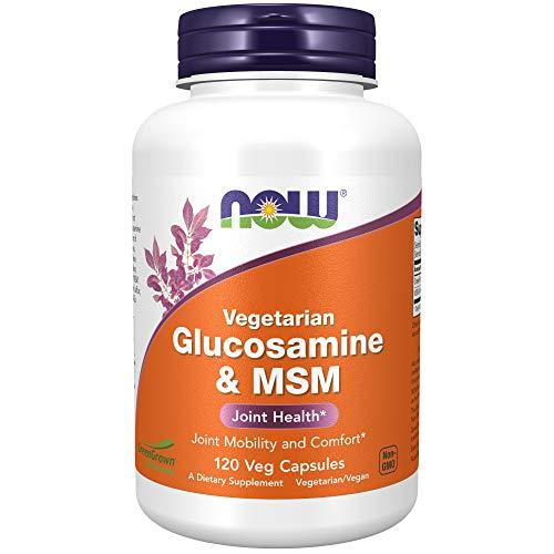 NOW Foods - Glucosamina Vegetariana e MSM 1000 mg - 120 Cápsulas vegetais