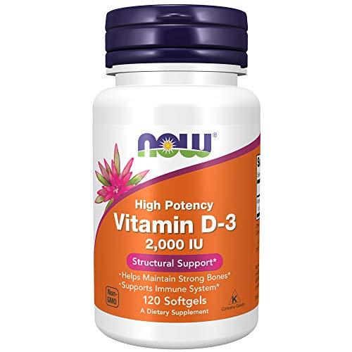 Vitamina D-3 2.000 UI Now Foods (120 Cápsulas)