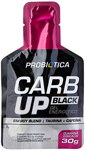 Carb Up Gel Black Guaraná com Açaí, Probiótica, 10 Sachês 30g