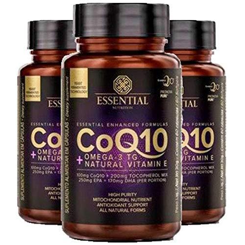 Coenzima Q10 com Ômega 3 TG - 3 unidades de 60 Cápsulas - Essential