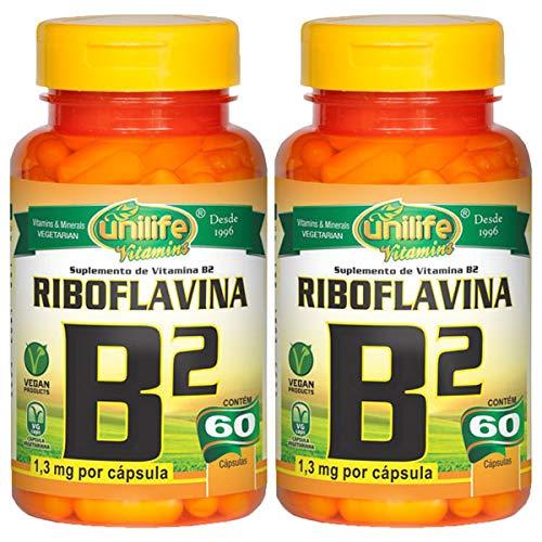 Vitamina B2 (Riboflavina) - 2 unidades de 60 Cápsulas - Unilife