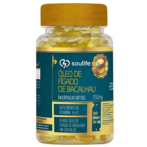 Óleo de Fígado de Bacalhau - 60 cápsulas - Soulife