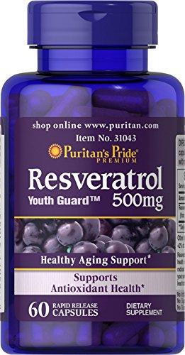 Resveratrol Puritans Pride 500mg - 60 Cápsulas