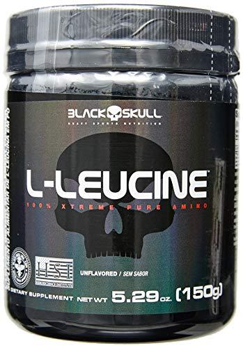 L-Leucine Isolada (150G) - Sabor sem Sabor, Black Skull