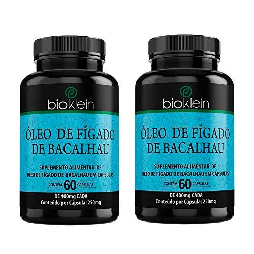 Óleo de Fígado de Bacalhau - 2 unidades de 60 Cápsulas - Bioklein