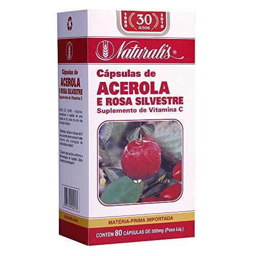 Acerola e Rosa Silvestre 80 Cápsulas Naturalis